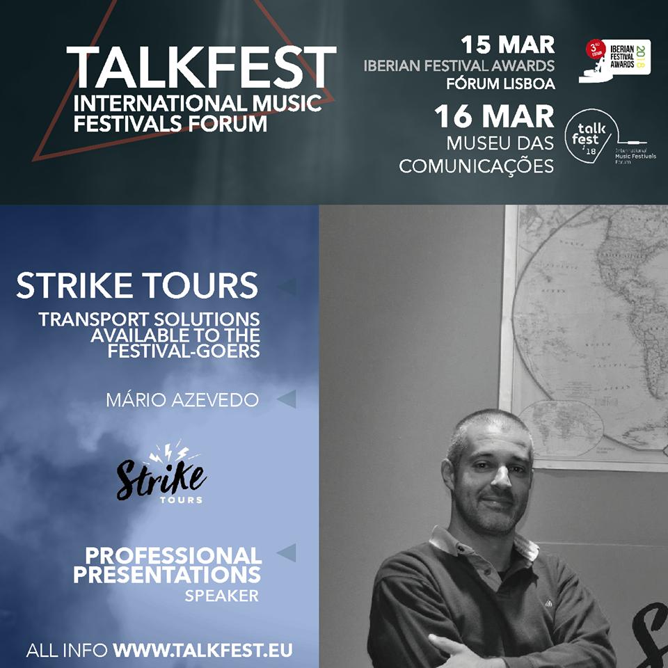 TALKFEST'18 – Estamos presentes no Fórum Internacional de Festivais de Música